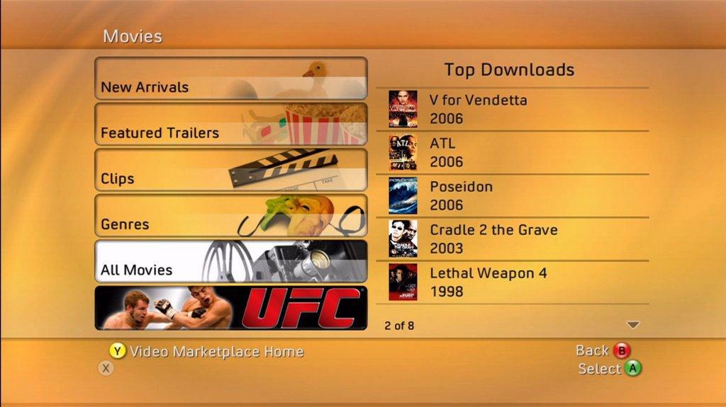 Filmový ráj na Xbox 360