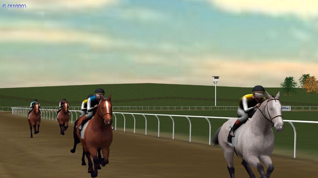 Závodní hra Post-Time se silou 200 koní