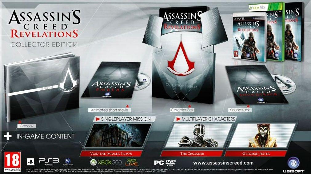 Tři různé edice Assassin's Creed: Revelations pro ČR
