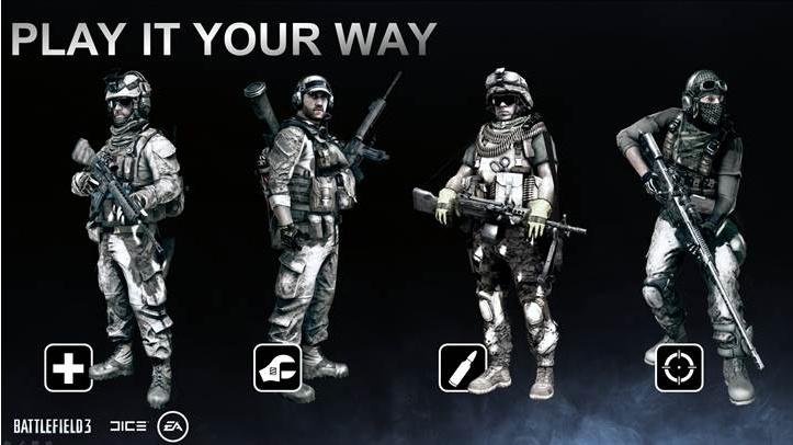 DICE překopali multiplayerová povolání pro Battlefield 3