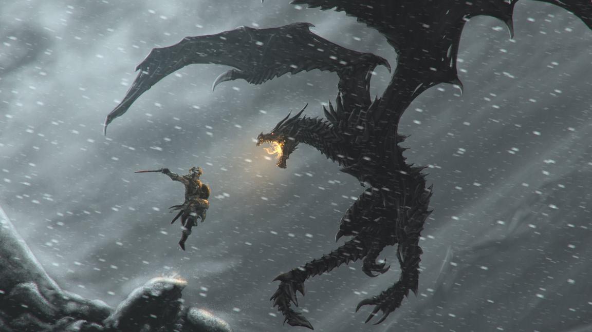 Přinese další Skyrim DLC Morrowind a létání na dracích?