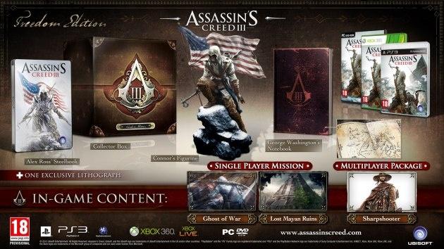 Co najdete ve sběratelských edicích Assassin's Creed III