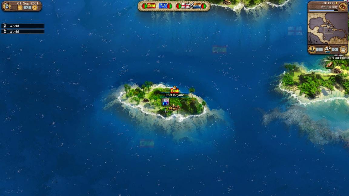 Lodní tutoriál pro budoucí hráče Port Royale 3