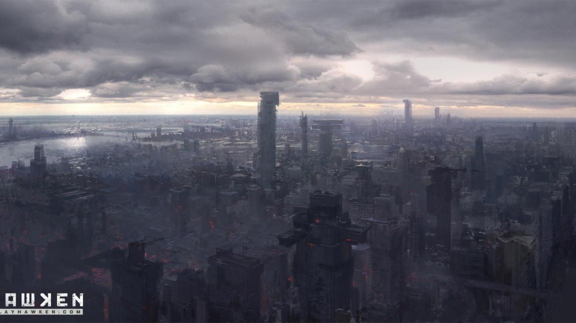 Mechové na zdevastované planetě Hawken