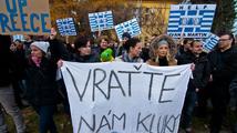 Momentky z demonstrace na podporu zadržených vývojářů