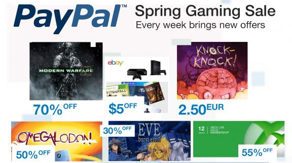 PayPal Spring Gaming Sale nabízí velké slevy na spoustu titulů