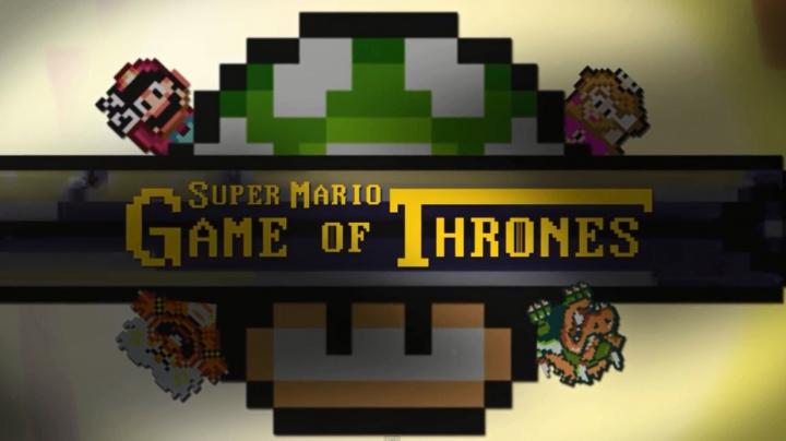 Mario vždy splácí své dluhy, jak ukazuje intro Hry o trůny ve stylu Super Maria