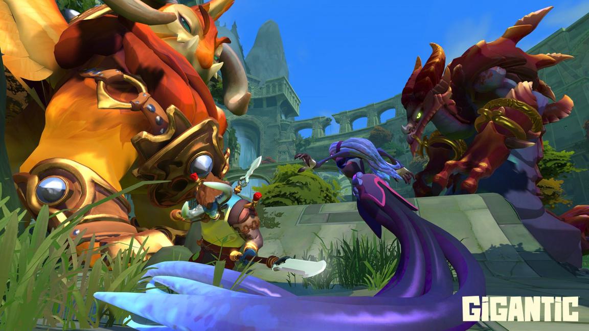 Akční MOBA Gigantic ukazuje své barvité hrdiny i monstra