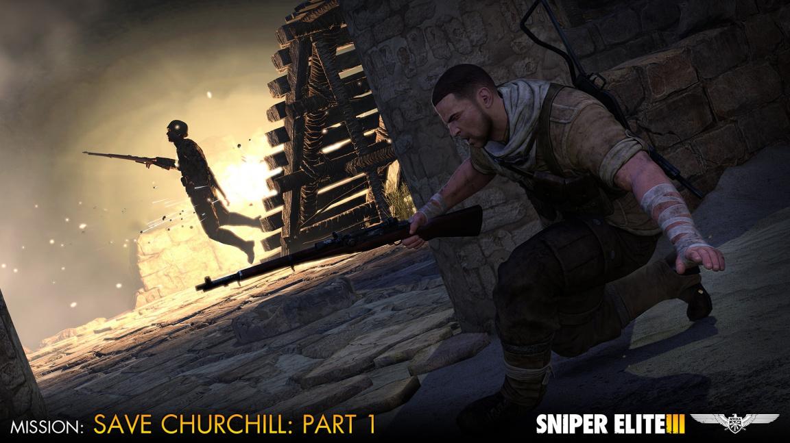 V trojdílné DLC kampani pro Sniper Elite 3 musíte zachránit Winstona Churchilla