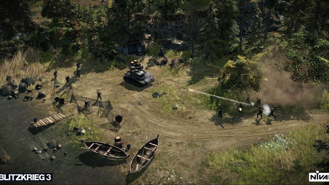 Dvojice videí z Blitzkrieg 3 se chlubí detailními tanky a zničitelností bojiště