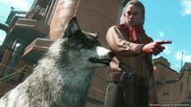 Dalším parťákem Snakea v Metal Gear Solid V je vlčák DD s páskou přes oko