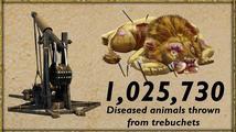 Při hraní Stronghold Crusader 2 vystřelili hráči katapultem milion nemocných zvířat