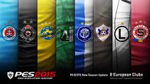 První update přidává do PES 2015 Spartu Praha a Slovan Bratislava