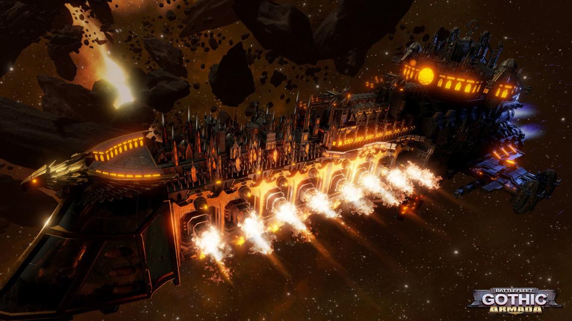 Battlefleet Gothic: Armada předvádí ve videu sílu lidské vesmírné flotily