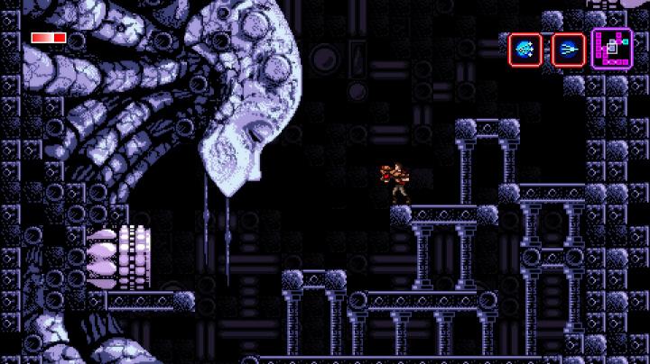 Sci-fi plošinovka Axiom Verge se hlásí k odkazu Metroidu a Contra