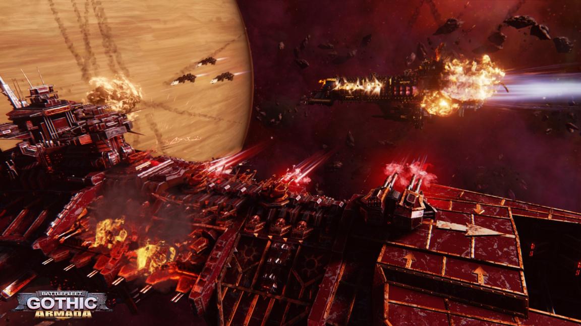Rozmáchlý trailer na Battlefleet Gothic: Armada ukazuje brutální střet Chaosu a Imperial Navy