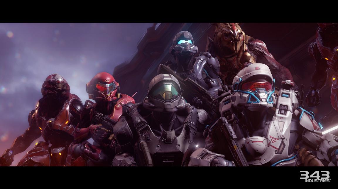 Úvodní filmeček z Halo 5 předvádí zběsilý útok komanda Spartanů