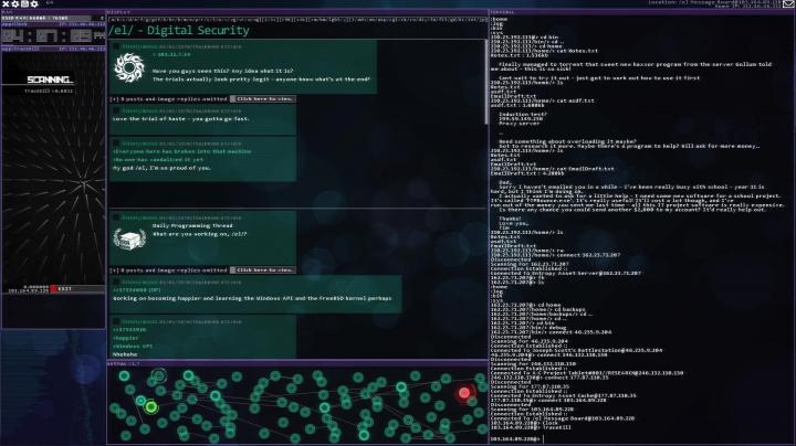 Na trh míří Hacknet, simulátor skutečného hackování s terminálem