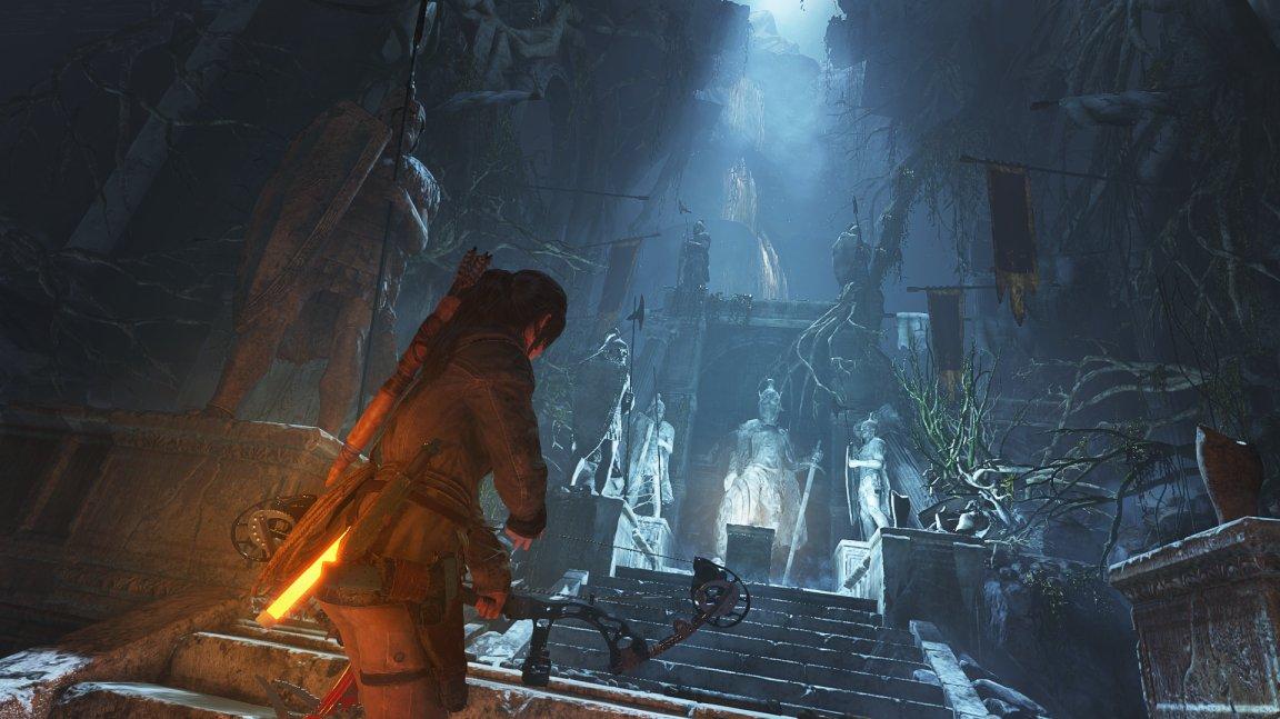 Rise of the Tomb Raider nešetří obrovskými kobkami a puzzly