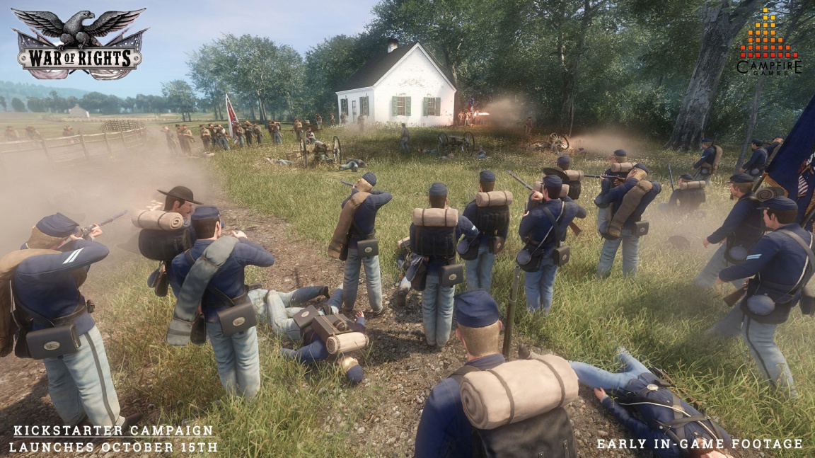 V multiplayerové střílečce z Americké občanské války War of Rights se střetnou stovky hráčů
