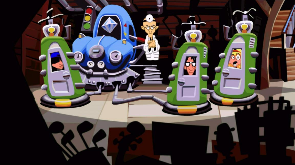 Obrázky z remasteru Day of the Tentacle ukazují vyhlazenou grafiku a stejnou stylizaci