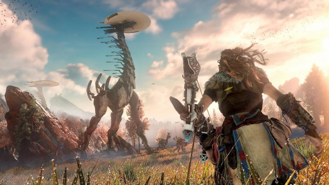 Horizon: Zero Dawn připomíná v soubojích akční RPG
