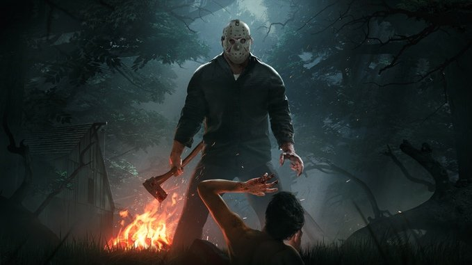 Jason Voorhees honí turisty v prototypu Friday the 13th: The Game