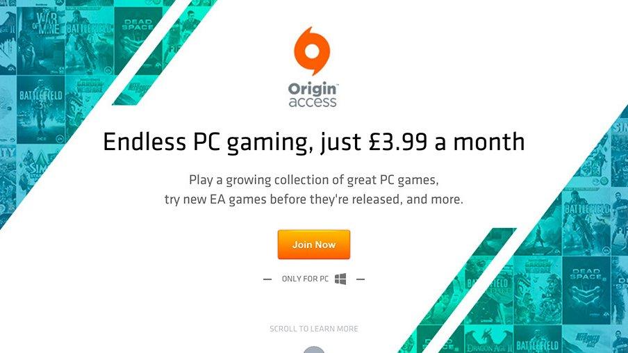 PC služba Origin Access nabízí za měsíční poplatek přístup ke katalogu her od EA