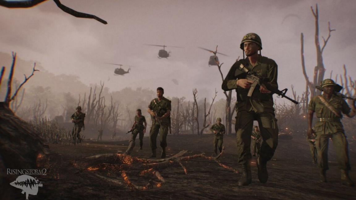 První záběry z hraní Rising Storm 2: Vietnam předvádí džungli, ves a napalm