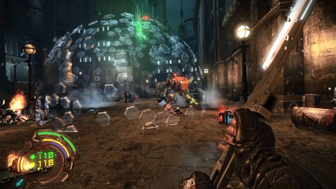 Remaster kyberpunkové střílečky Hard Reset nabídne hezčí grafiku a nový obsah