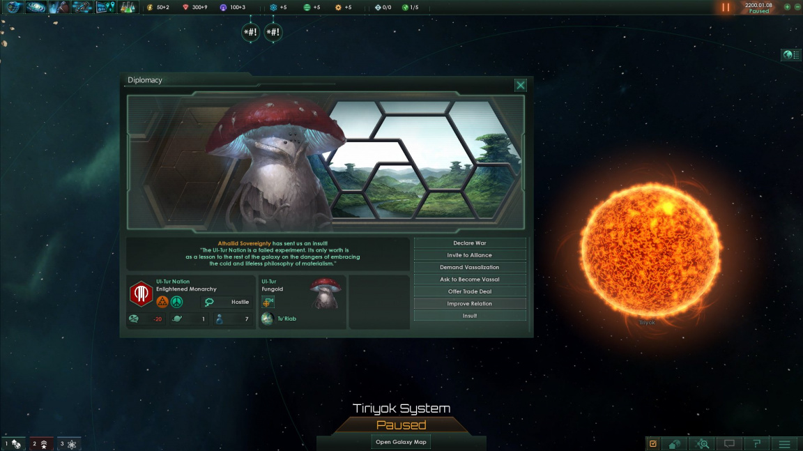 Updaty pro Stellaris upraví AI a rozšíří diplomatické možnosti