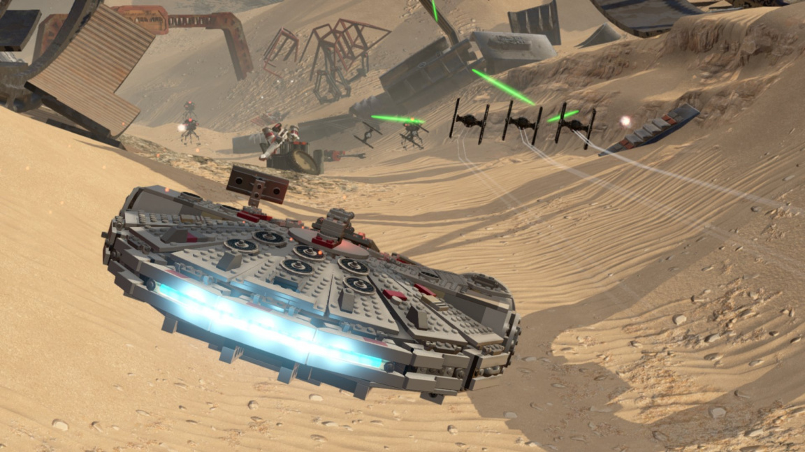 LEGO Star Wars: The Force Awakens slibuje svižnou akční jízdu i slavné dabéry