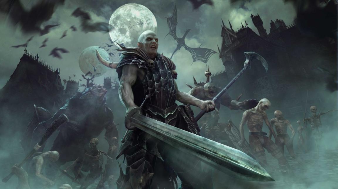 Mannfred von Carstein pochoduje s armádou nemrtvých na Total War: Warhammer