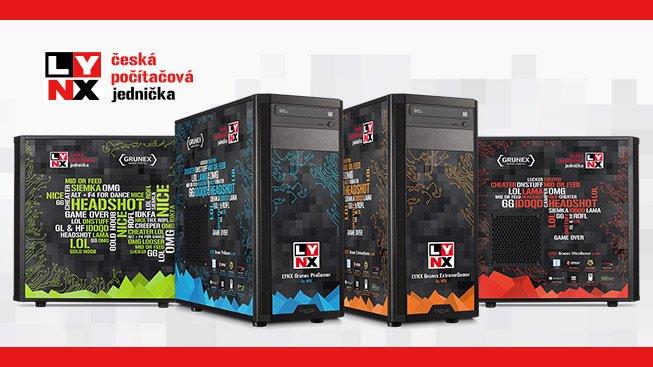 Vyberte si ze 4 výkonnostních typů herních počítačů LYNX