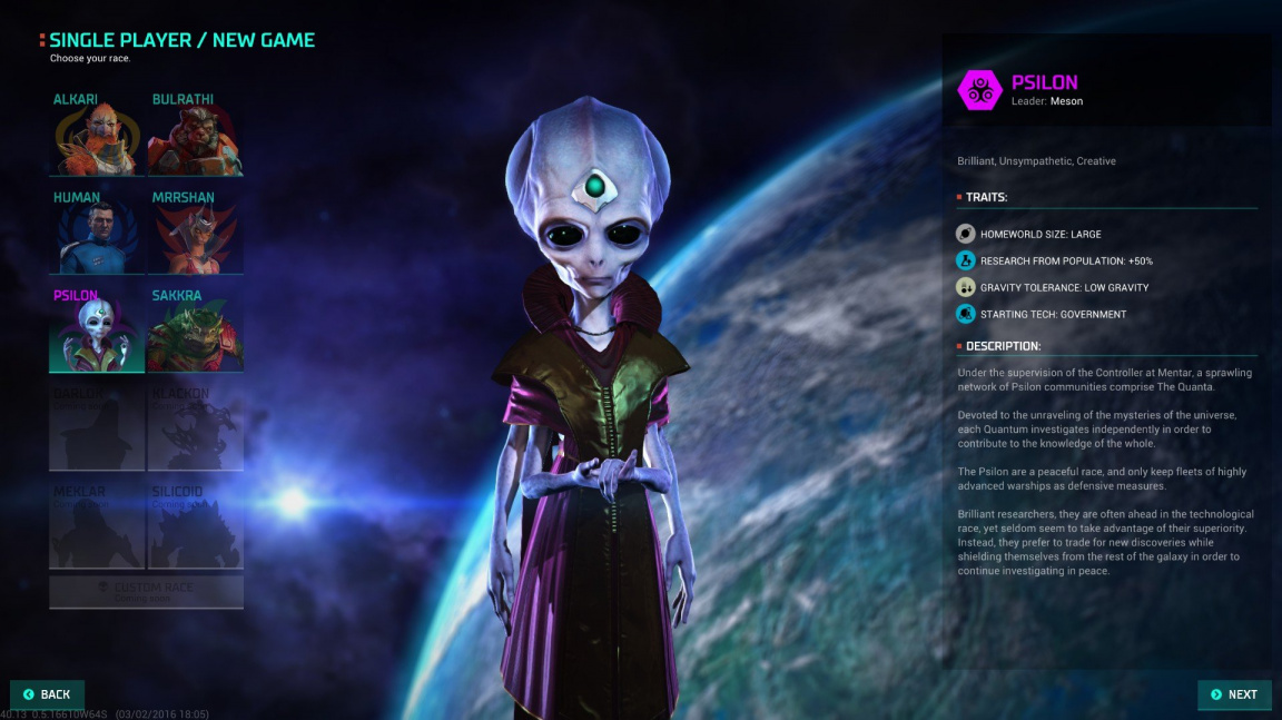 Master of Orion - dojmy z early access verze