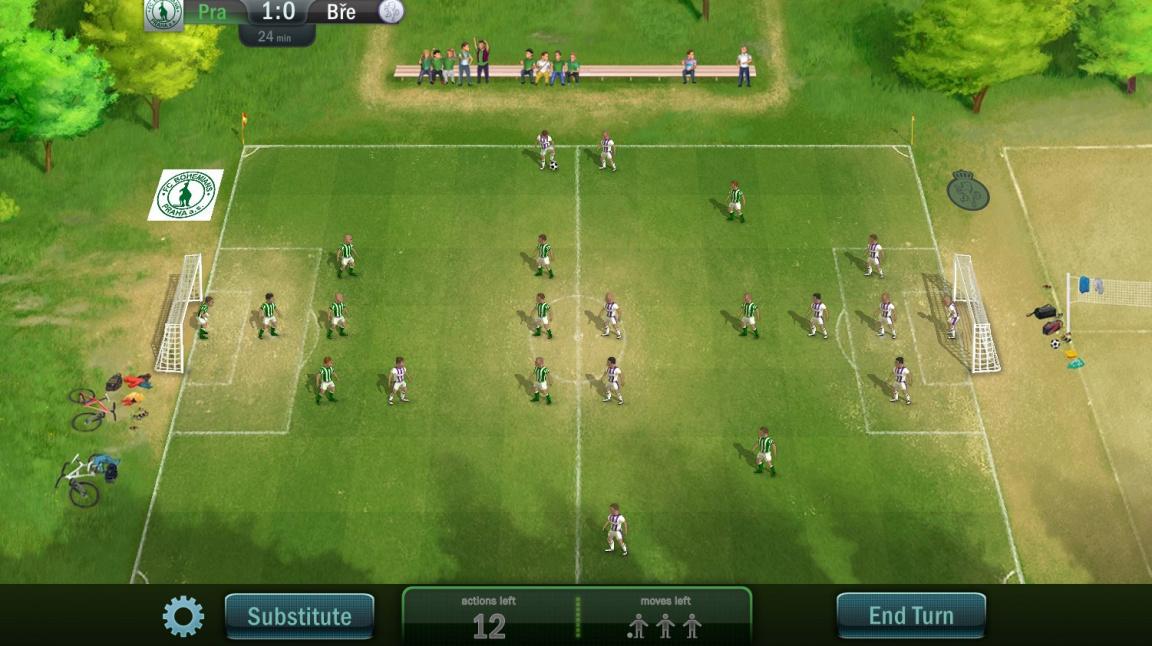 Football Tactics je návyková fotbalová strategie pro všechny - s českými kluby i texty