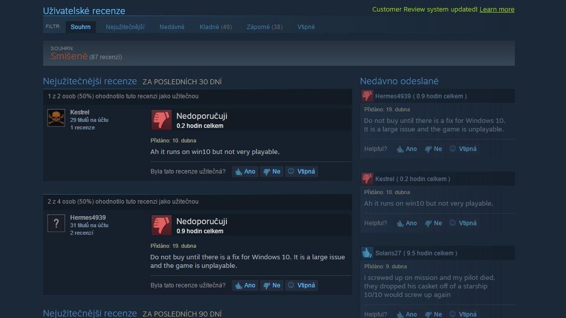 Steam zavádí systém recenzí, který reflektuje průběžné změny ve hrách