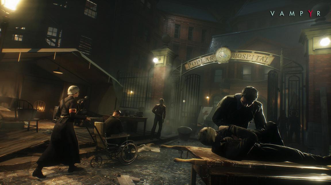 Upírské RPG Vampyr z meziválečného Londýna vyjde v červnu