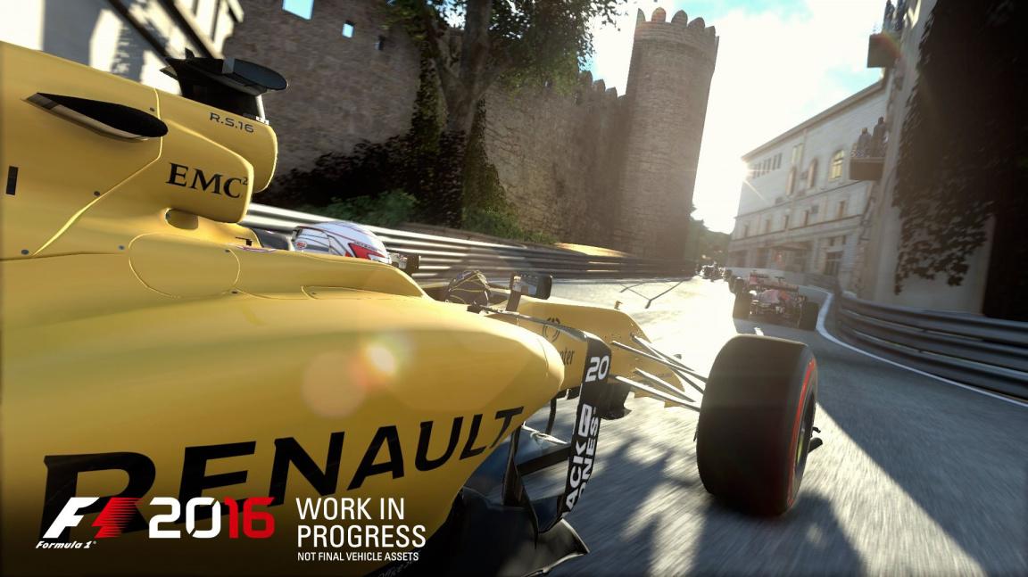 F1 2016 vyjde v druhé polovině srpna i s okruhem v Baku
