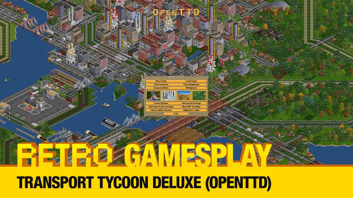 Retro GamesPlay: hrajeme Transport Tycoon Deluxe (OpenTTD)