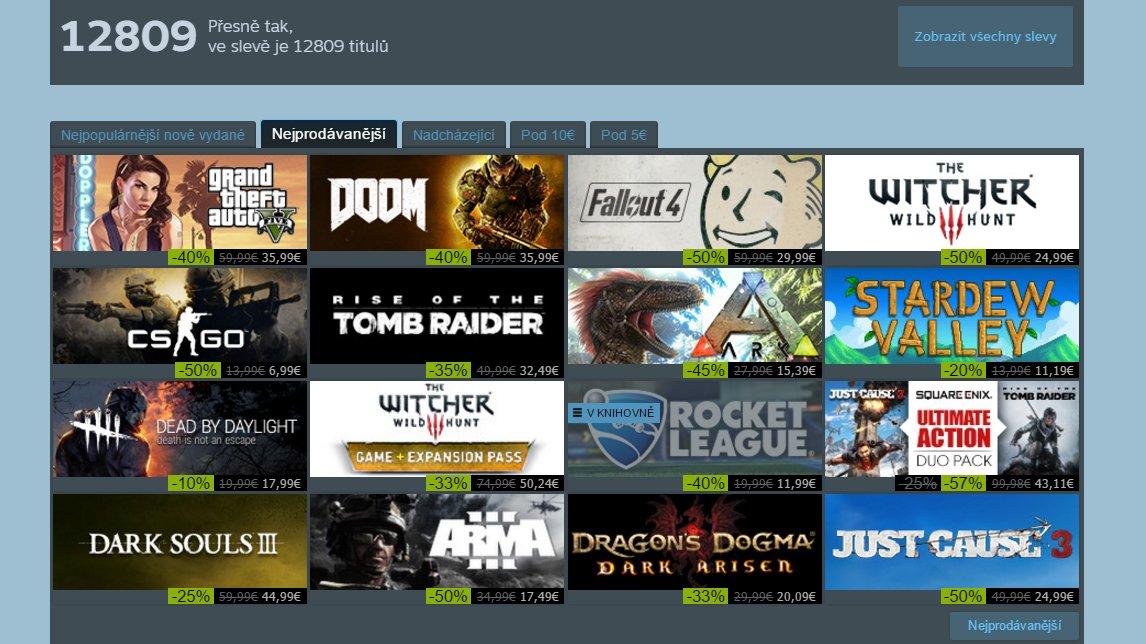 Začal letní výprodej na Steamu - co (by) si koupila redakce Games.cz