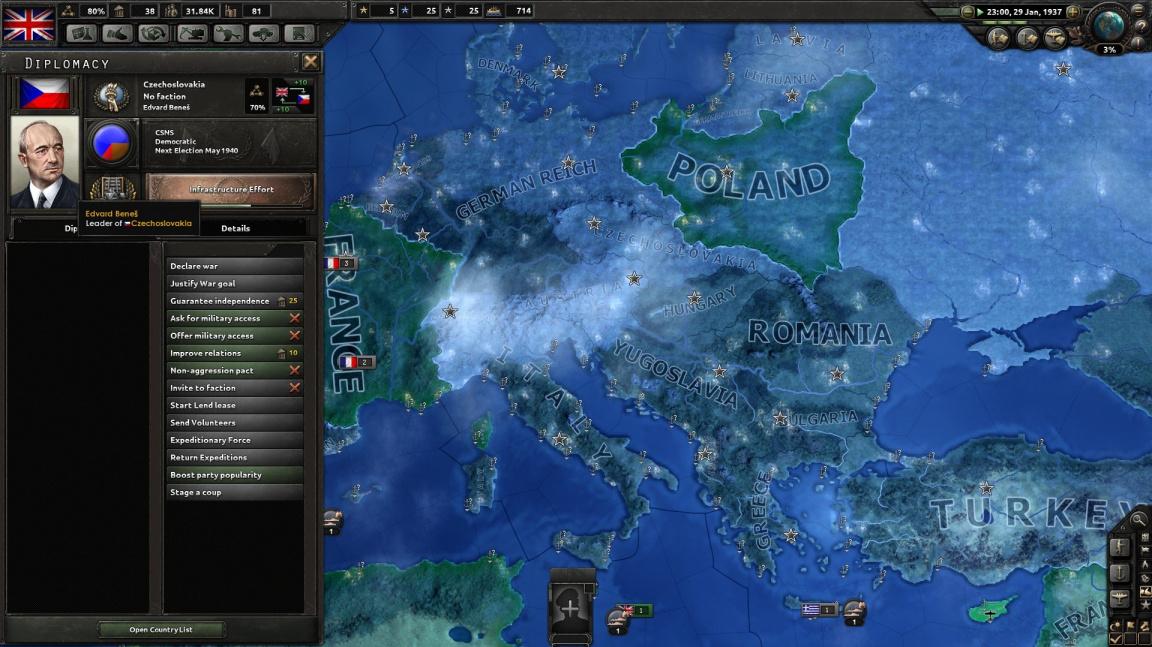 14. červen přinese lepší Československo do Hearts of Iron IV a ruské DLC pro Europa Universalis IV