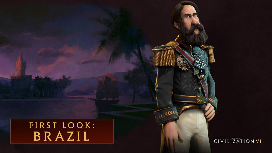 Brazílii v Civilization VI povede Petr II. Brazilský s unikátní lodí a karnevalem