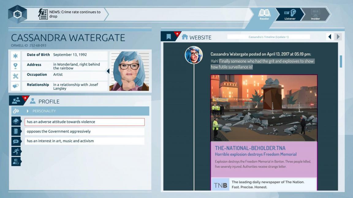 Orwell vás nechá špehovat obyčejné lidi, abyste zabránili teroristickému útoku