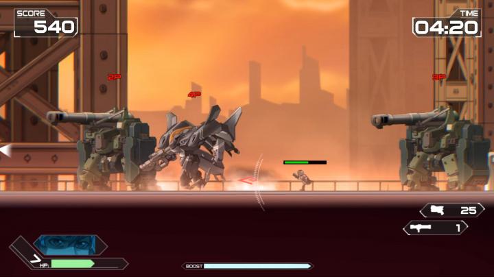 2D akce Code: Hardcore nabízí souboje mechů v povedené grafické stylizaci