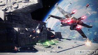 Letecké bitvy ve Star Wars: Battlefront II vypadají krásně, stíhačkou se prolétne dokonce i mistr Yoda