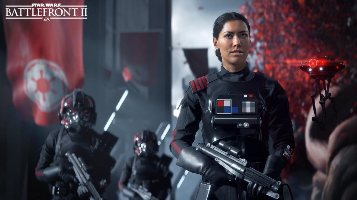 Hlavní hrdinku Star Wars: Battlefront II doplní imperiální fanatik, bezstarostný vtipálek a táta admirál