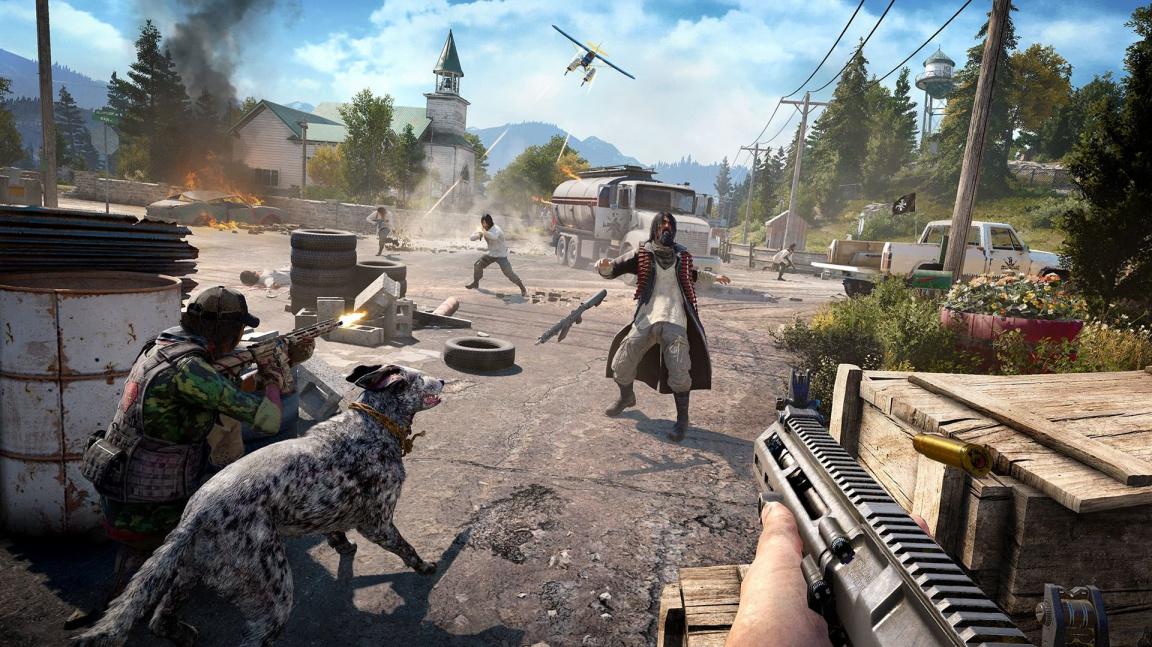 Revoluce s dvounohými i čtyřnohými parťáky v traileru na Far Cry 5