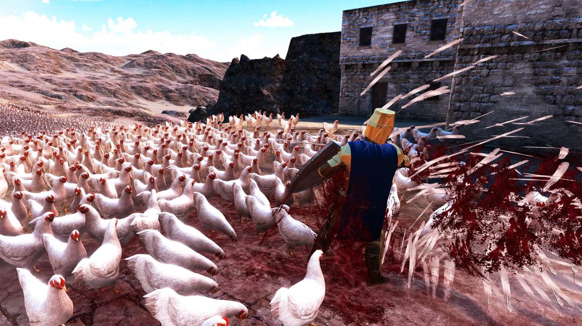 Ultimate Epic Battle Simulator zodpoví věčnou otázku, zda by slepice dokázaly uklovat římskou legii