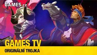 Originální trojka (Games TV #20: Pyre, Sundered, Abyss Odyssey)